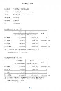 平成研究会の収支報告書の要約版